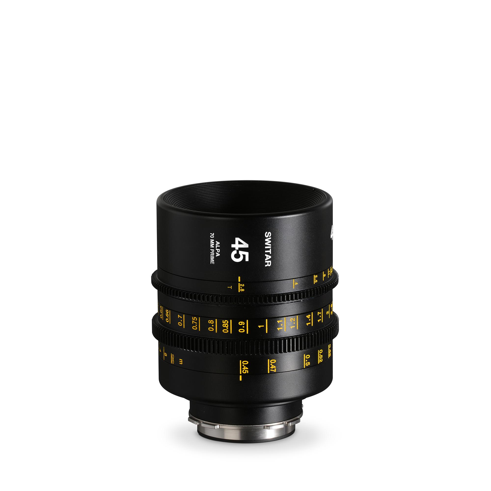 ALPA Switar 2.8/45 mm Cine Prime IC 70 mm - meters