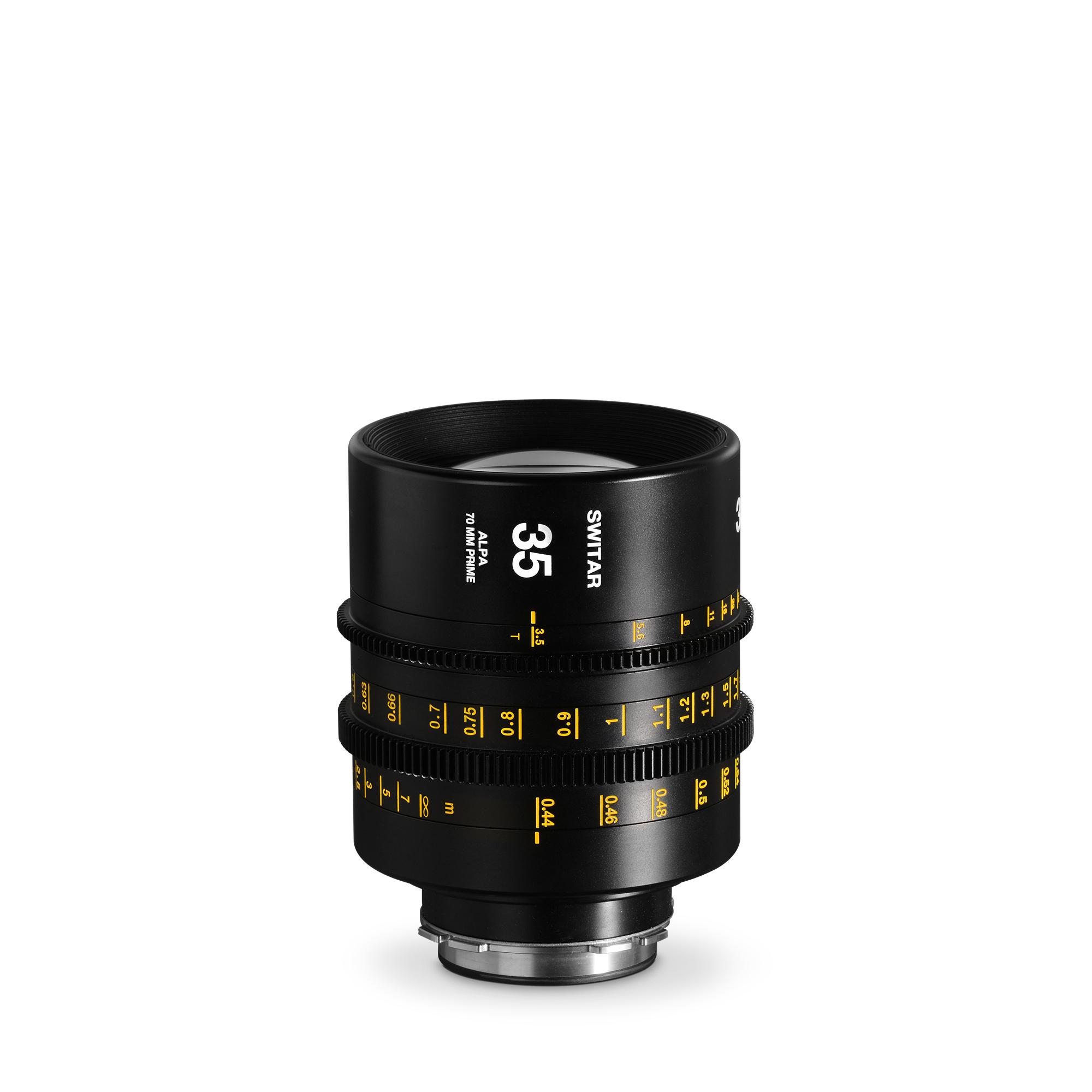ALPA Switar 3.5/35 mm Cine Prime IC 70 mm - meters