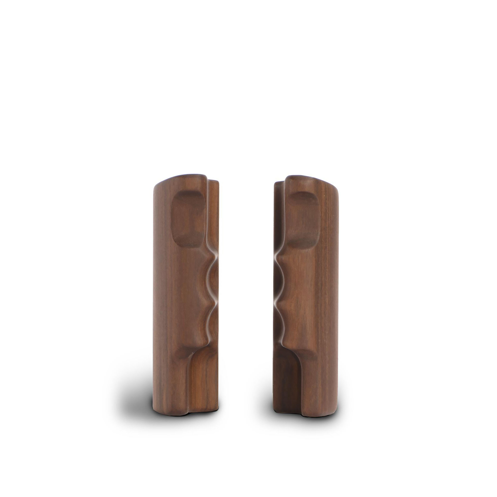 ALPA PLUS handgrip pair, rosewood natural