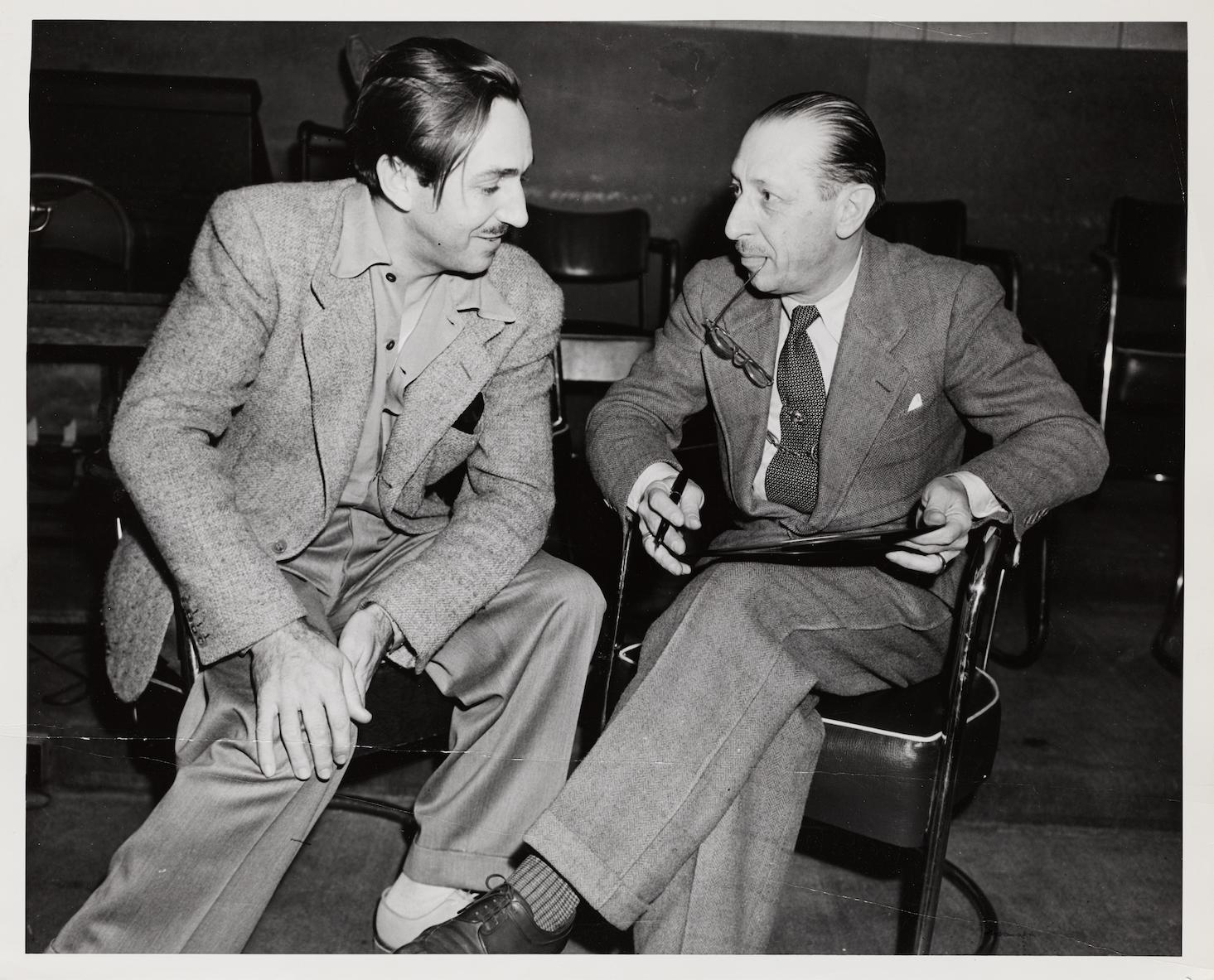 Walt Disney (left) with Igor Stravinsky in the year 1937. © Paul Sacher Stiftung