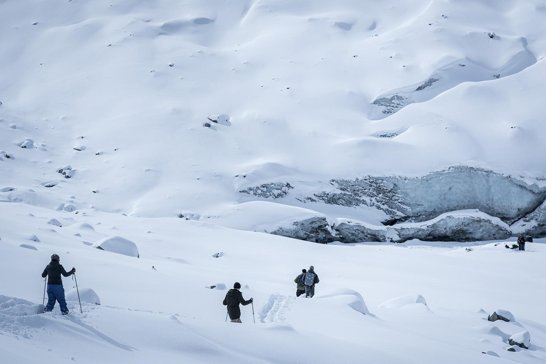 ETH Students on the Morteratsch Glacier