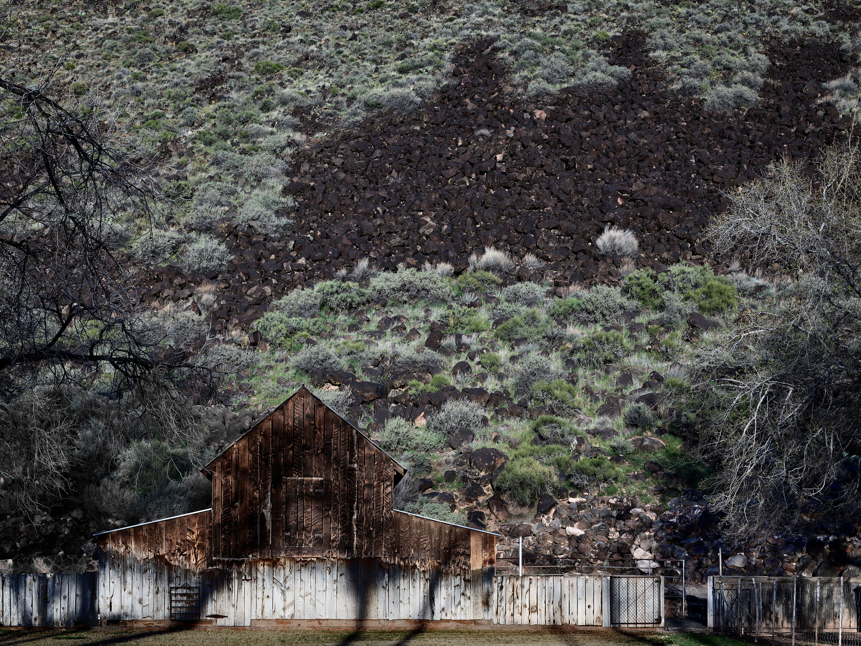 Barn Wall with Lava ©Burk Uzzle