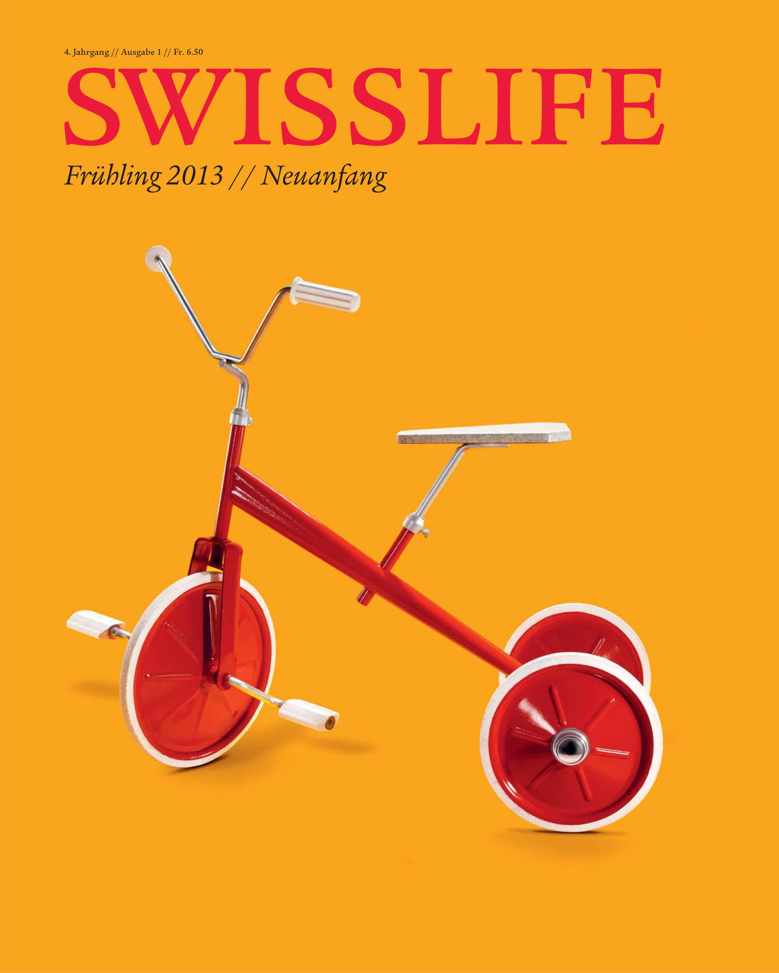 Comeback - ALPA in Swisslife Magazine 1.2013
