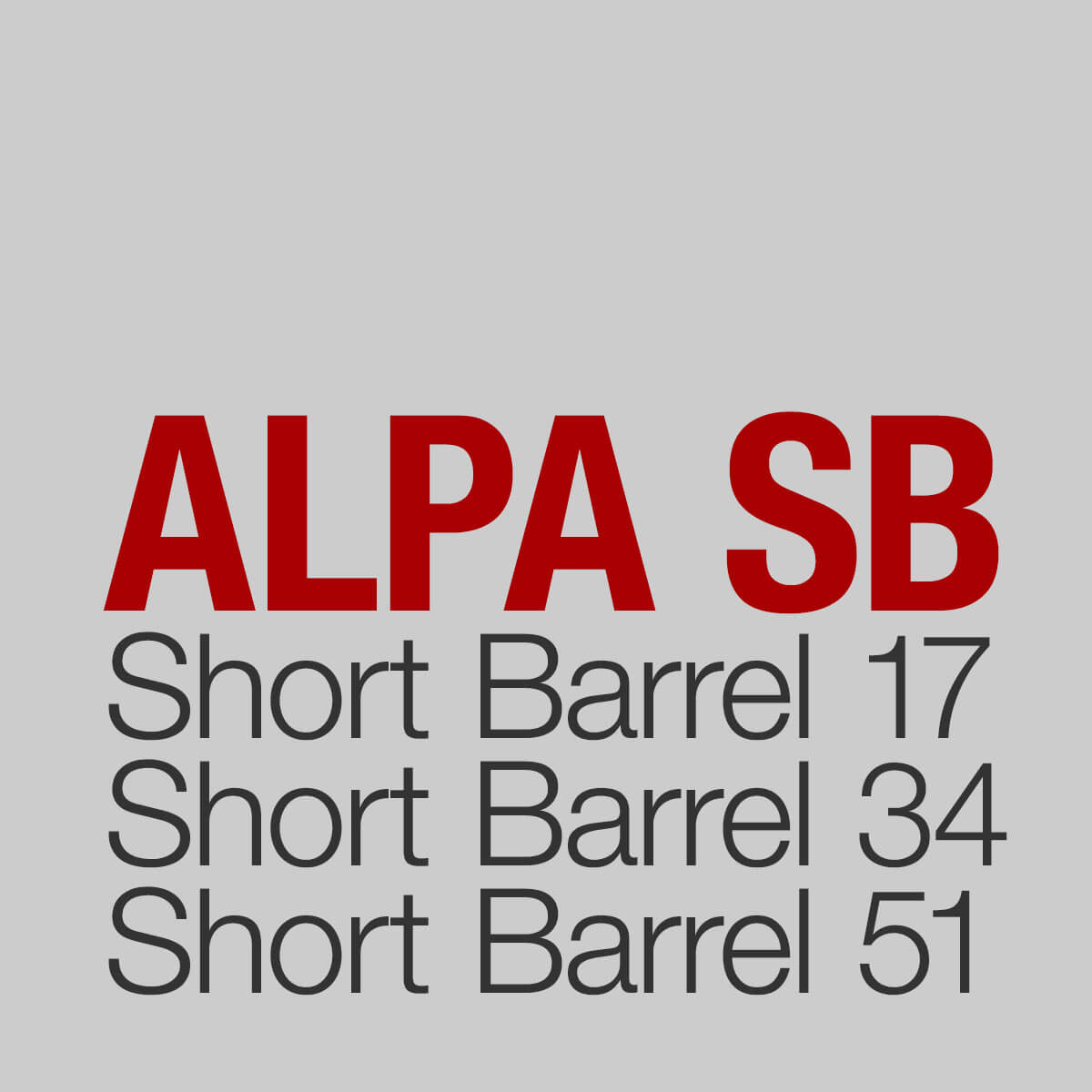 The History of the ALPA Short Barrel Concept