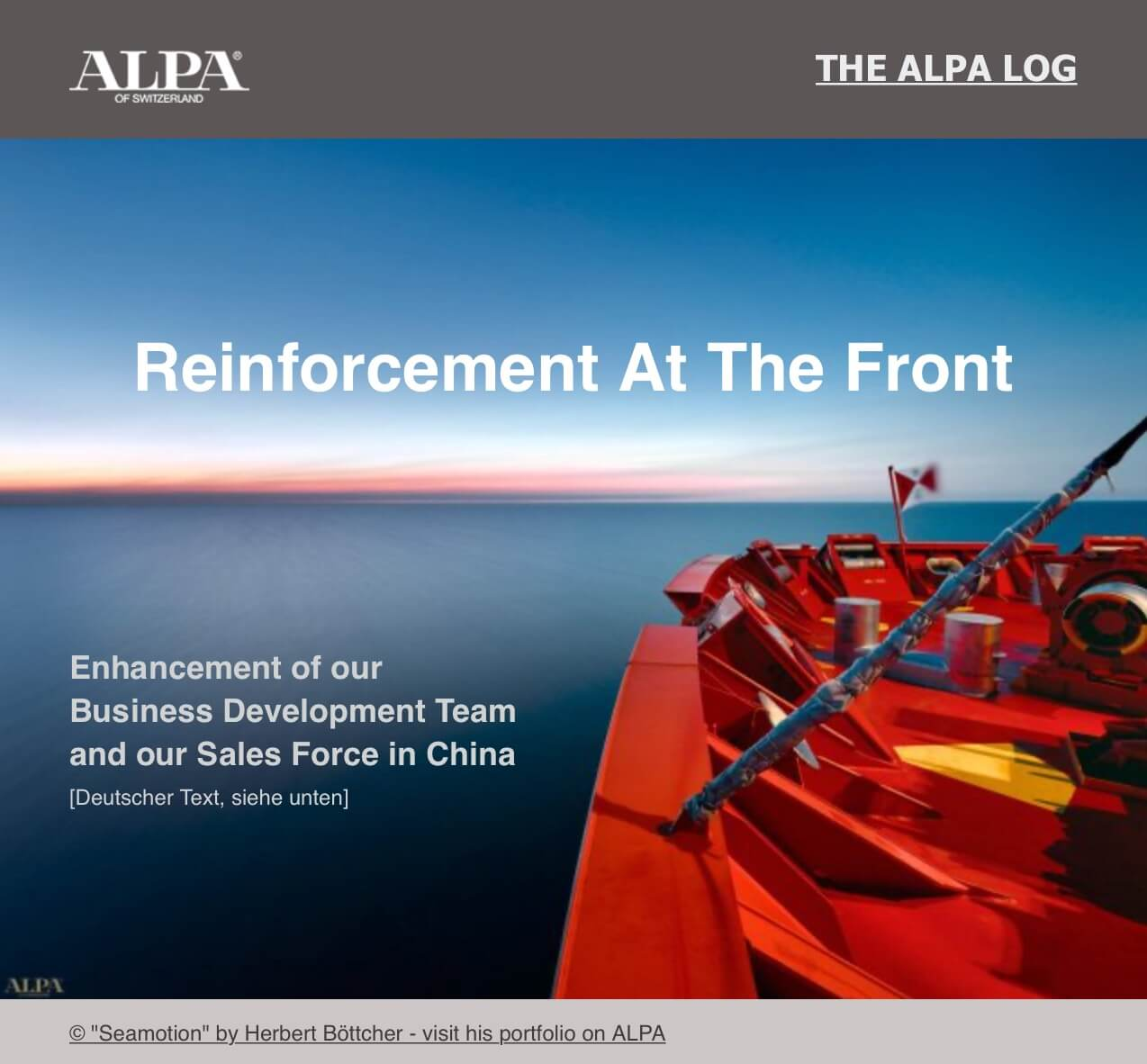 [The ALPA Log] Reinforcement at The Front - Verstärkung an der Front