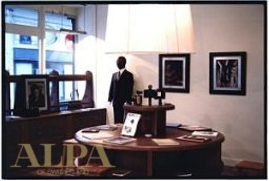 """1998 - ALPA 12 SWA exhibited at """"Lagerfeld Gallery"""" in Paris"""