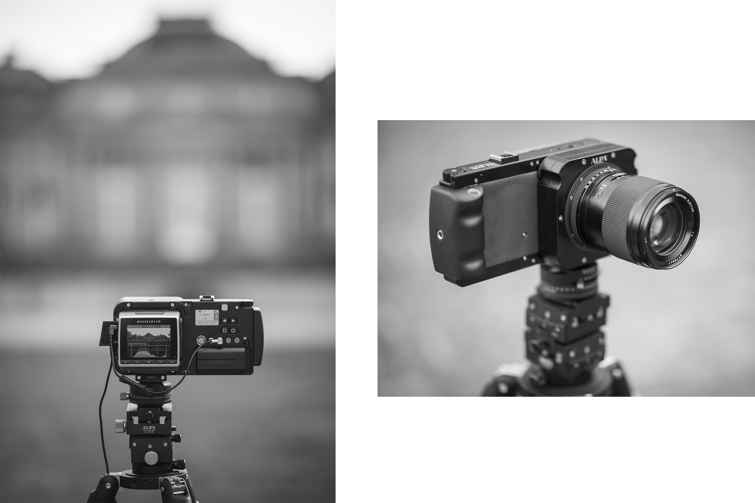 ALPA Lens Module Contax 645 and ALPA12 FPS: Can be operated with nearly any digital back.