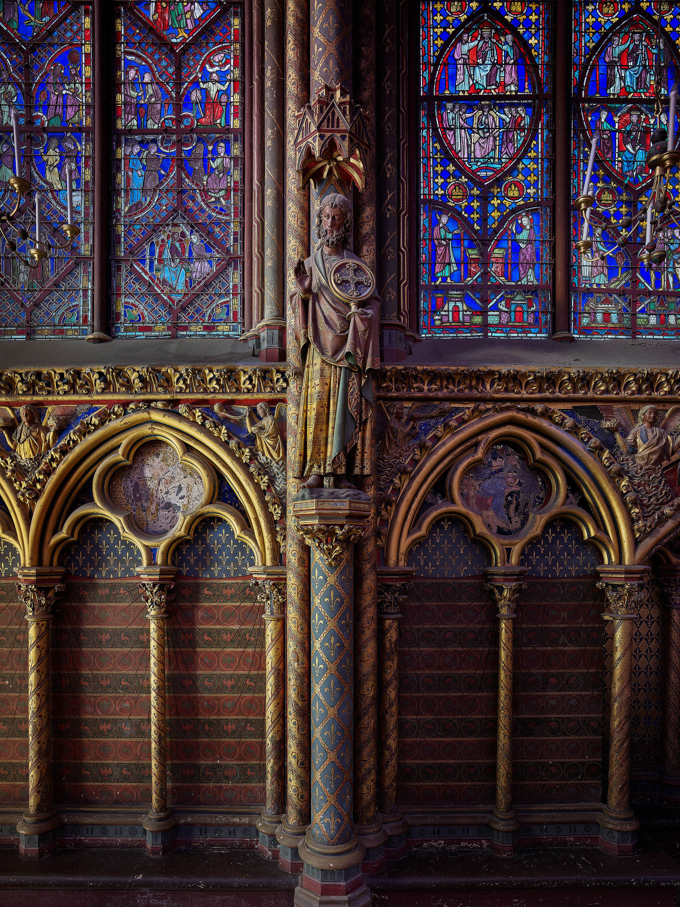 Pech Interiors of the Saint-Chapelle in Paris
