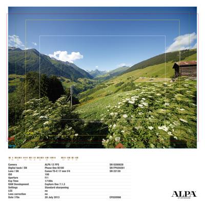 A vast choice of lenses with the ALPA 12 FPS