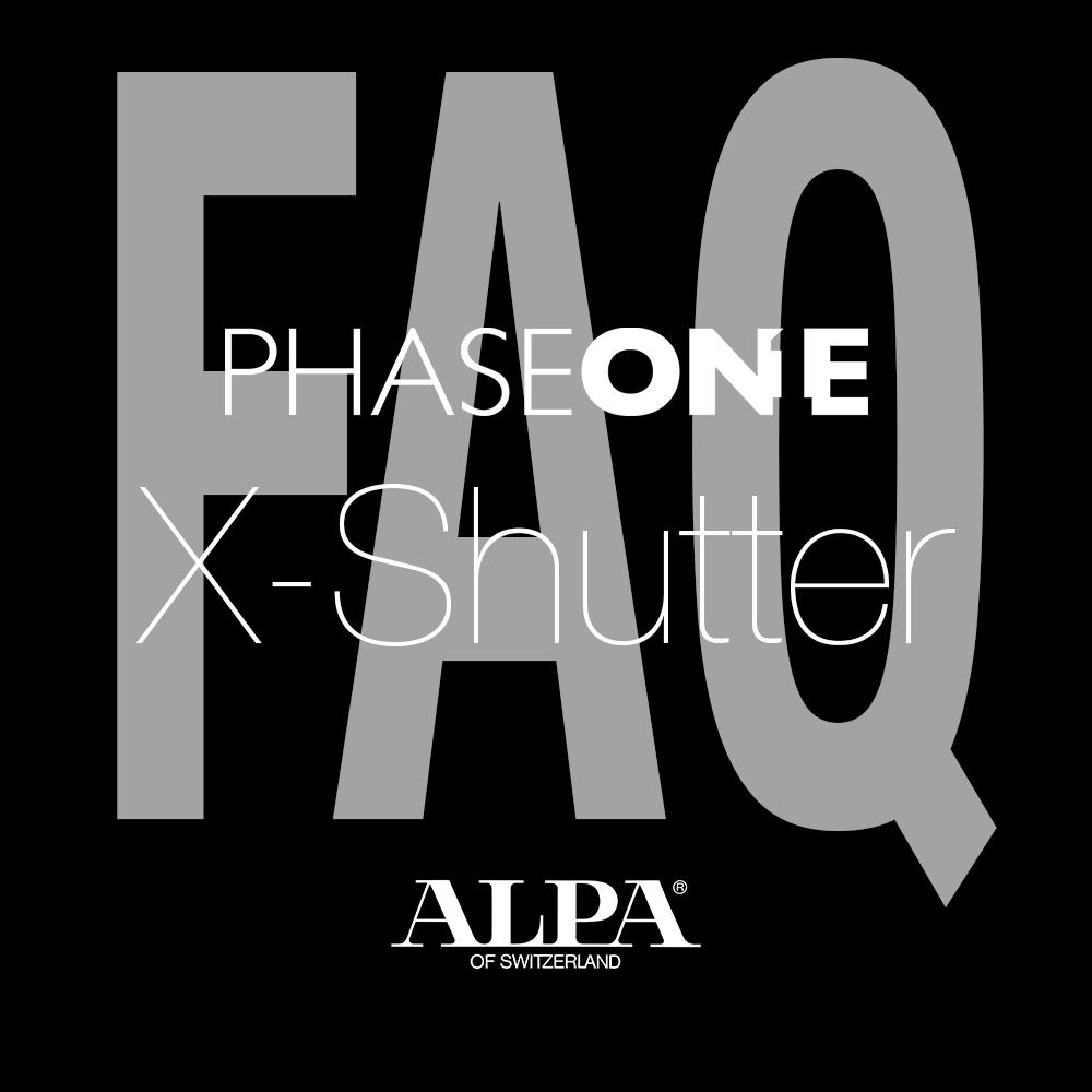 FAQ ALPA and X-Shutter