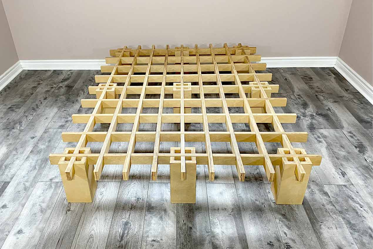 Full size view of the Tic Tac Toe bed frame from Quagga Designs.
