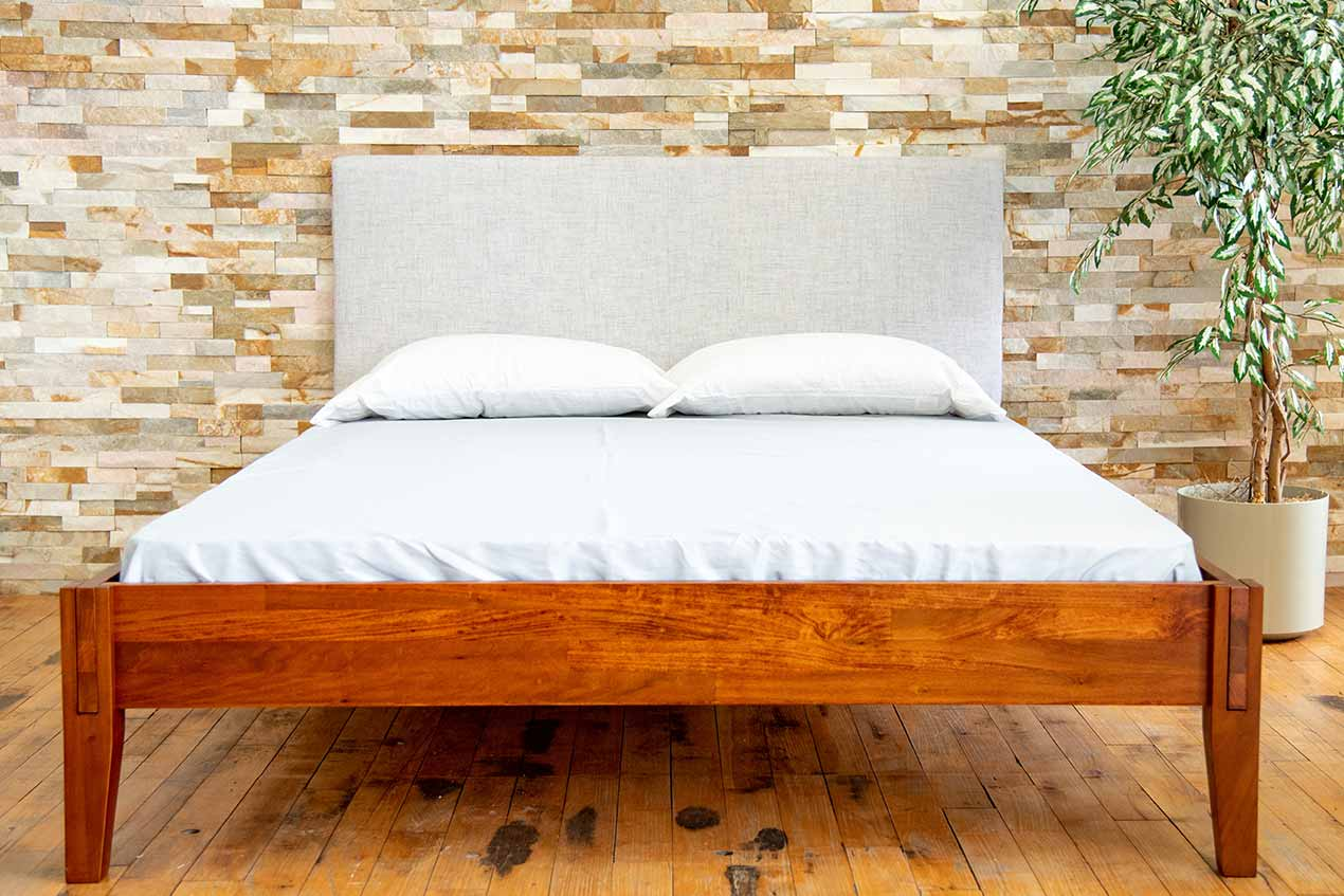 Entire Rustic bed frame from Quagga Designs.