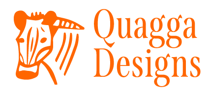 Orange Quagga Designs logo.