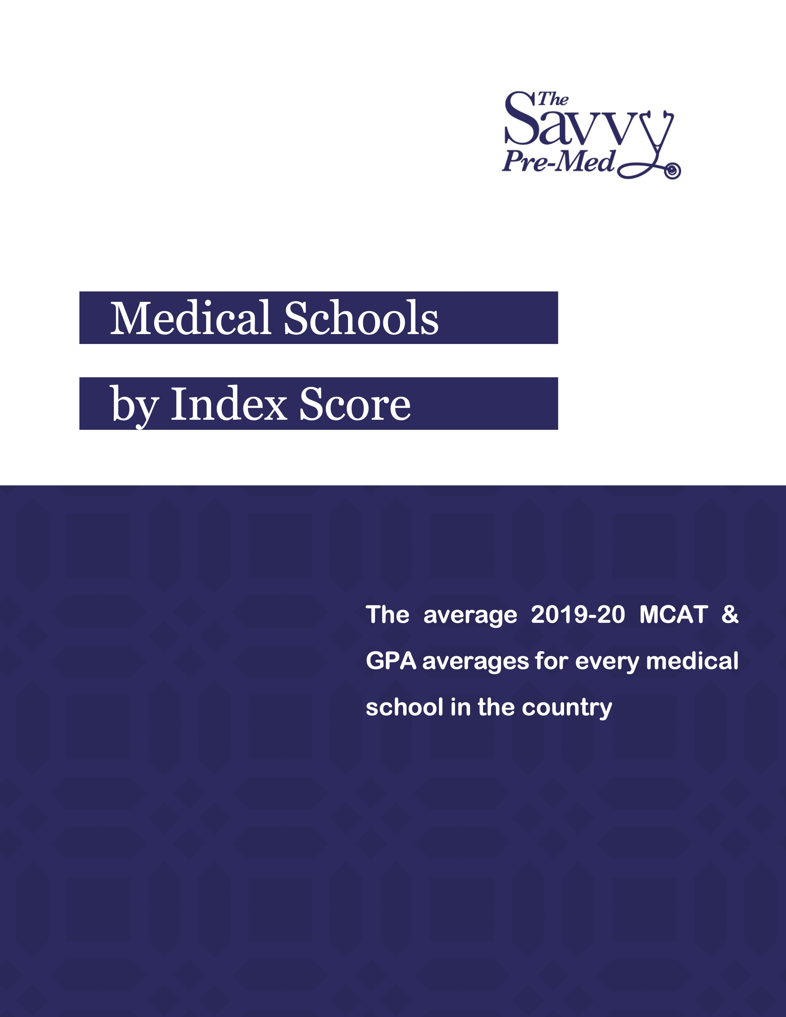 2019-2020 Medical Schools by Index Score