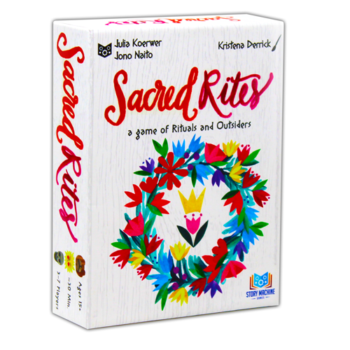 The box for the board game Sacred Rites.
