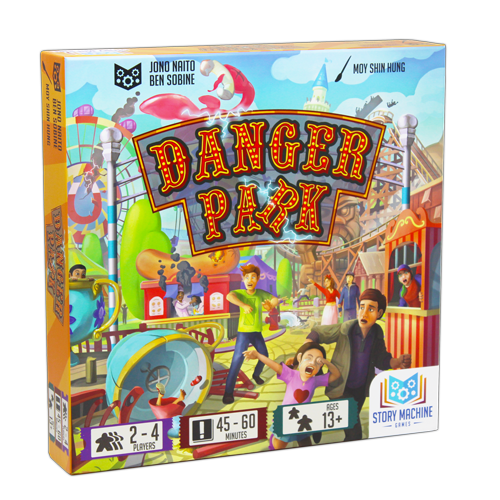The box for the board game Danger Park.