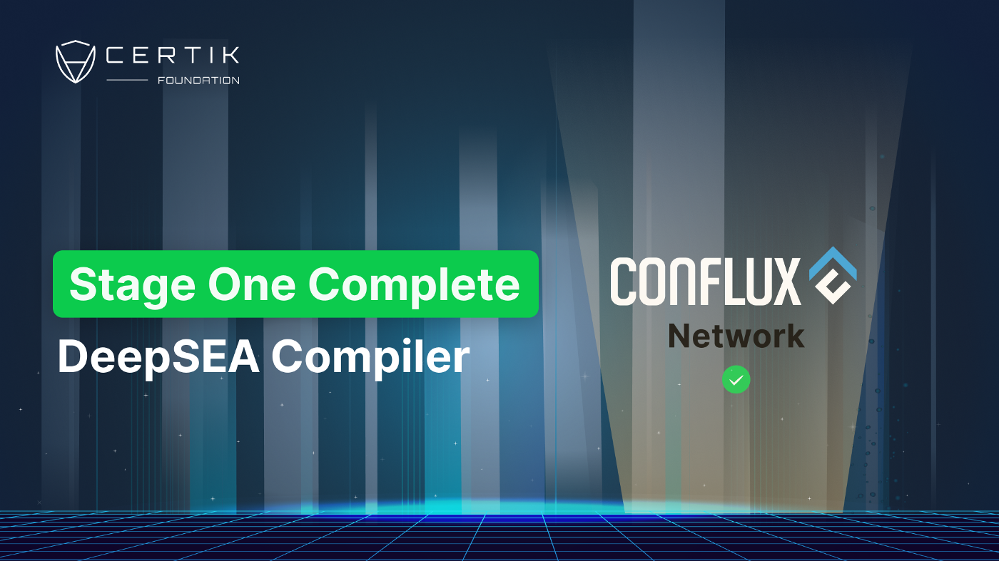 Stage 1 Complete: DeepSEA Compiler for Conflux Network