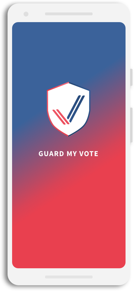 Guard My Vote Splash Page