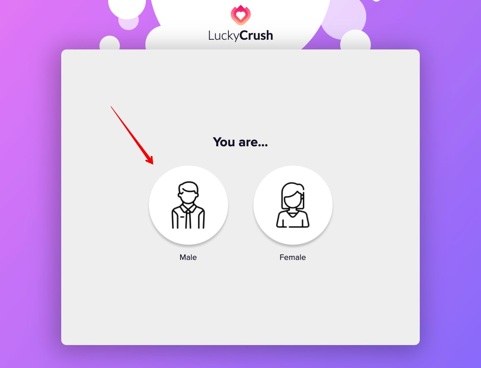 LuckyCrush Choose your gender