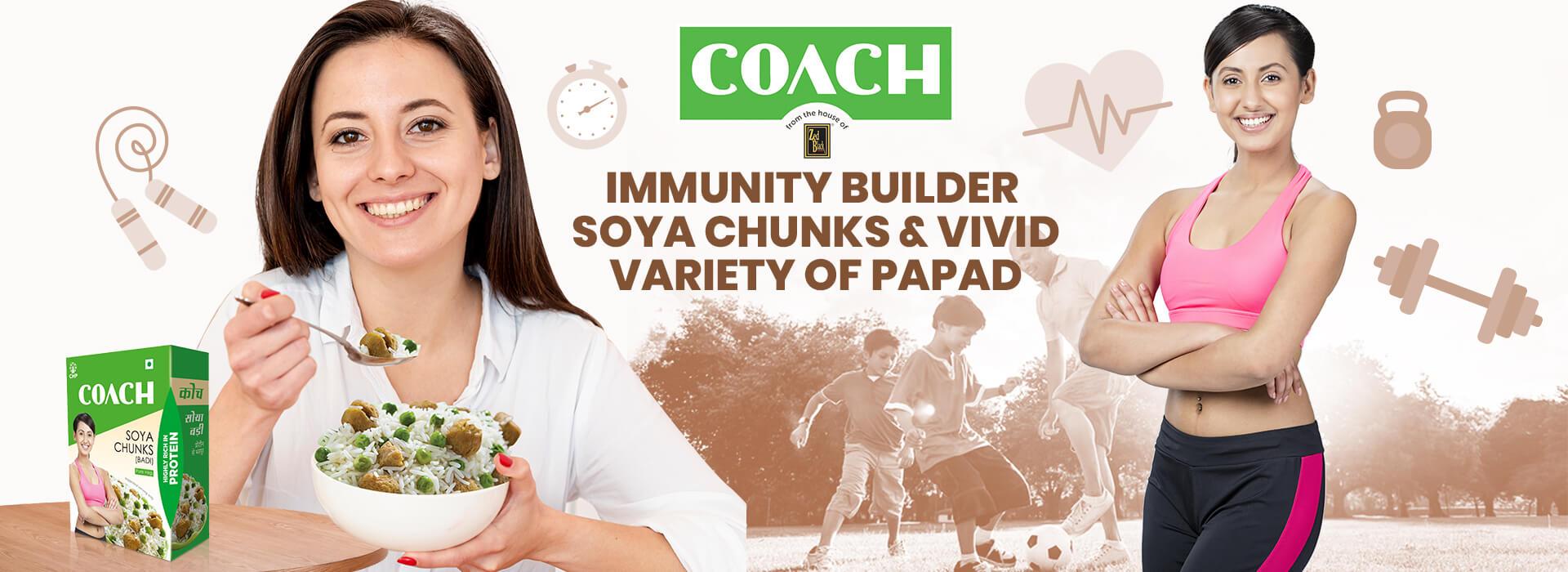 coach soya chunks immunity builder variety
