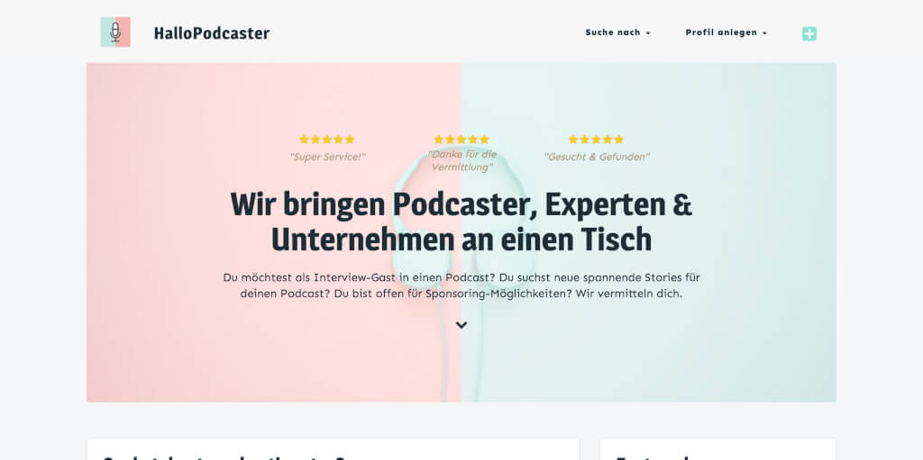 HalloPodcaster Interview Gaeste Podcast Werbung finden