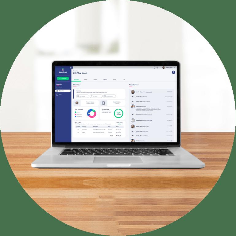 rental property management software for landlords dashboard