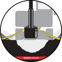 Diagram of Signaltape underground marker tape performance