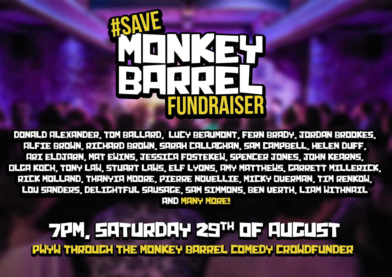 Monkey Barrel Comedy Marathon Fundraiser