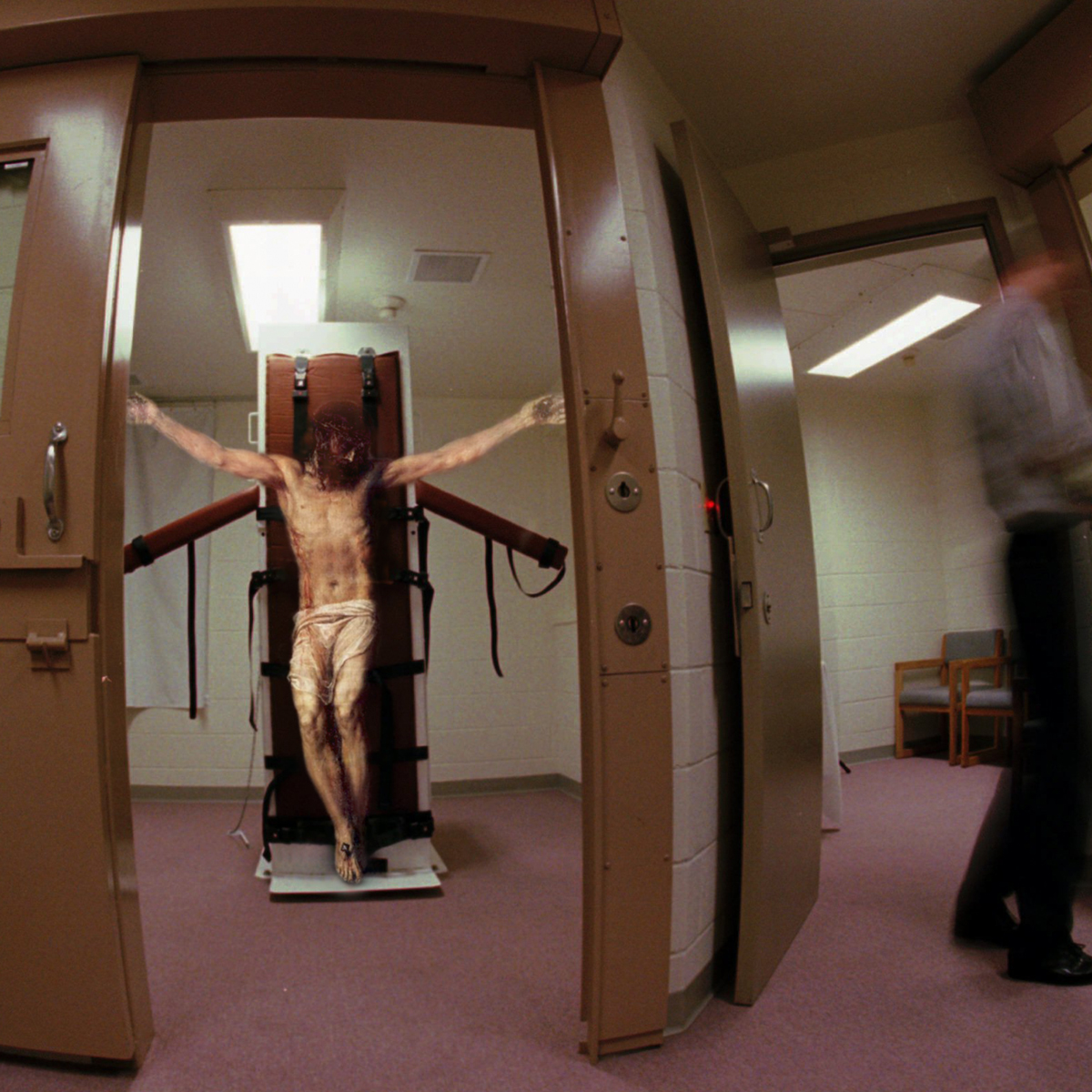 Jesus Christ crucifixion lethal injection table