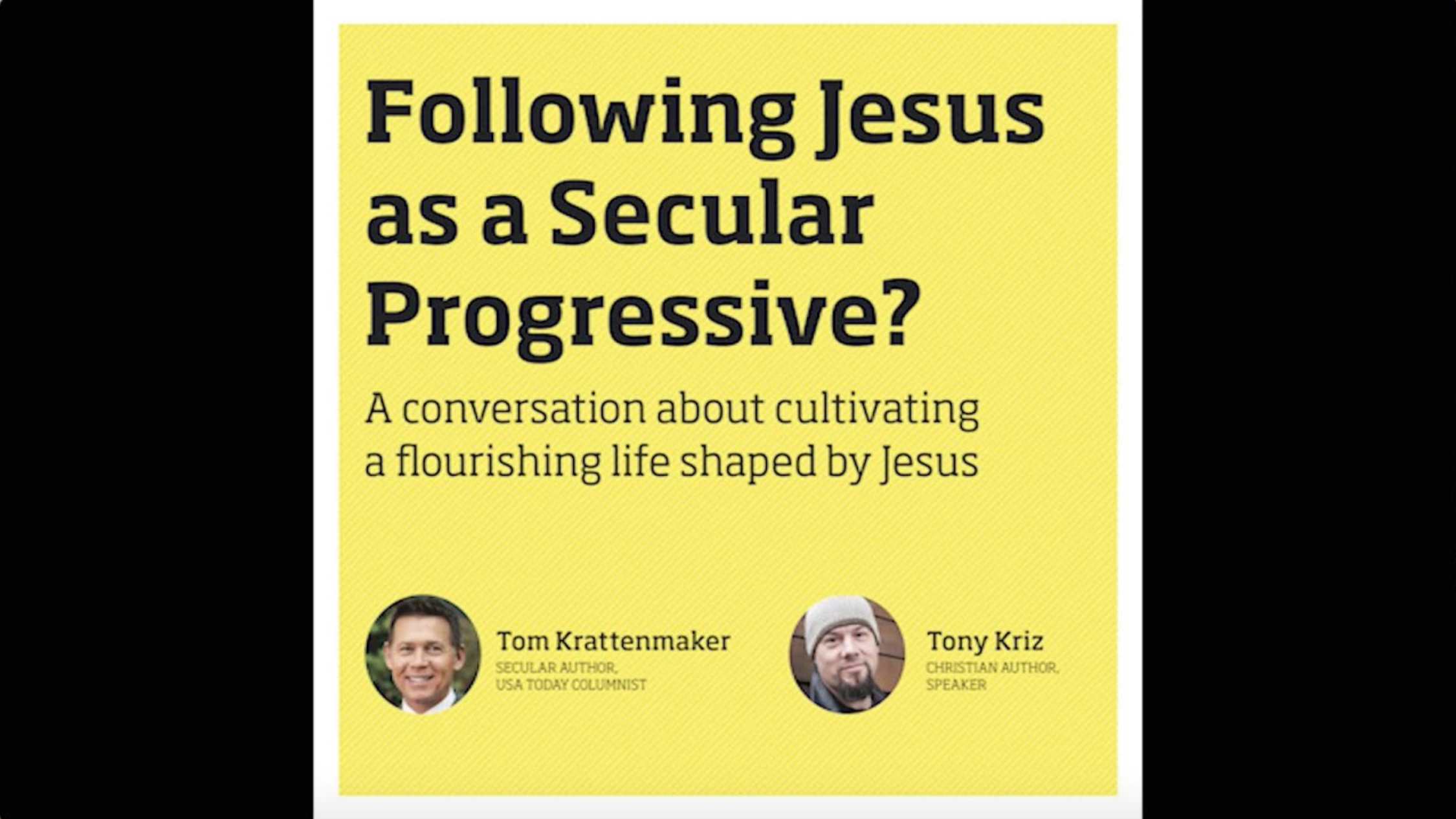 Following Jesus as a Secular Progressive?