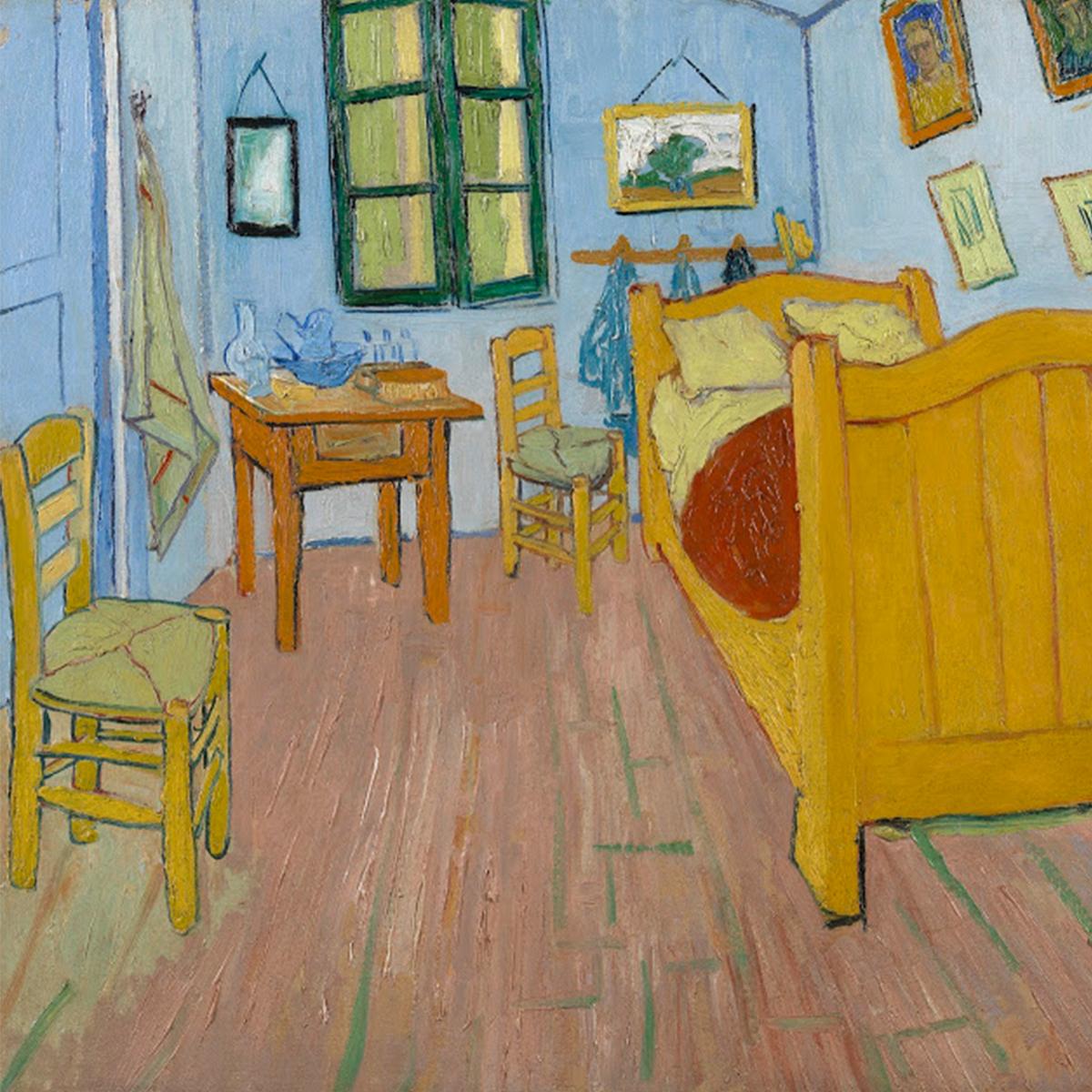 """The Bedroom"" Vincent Van Gogh, 1888 / Credits: Van Gogh Museum, Amsterdam"