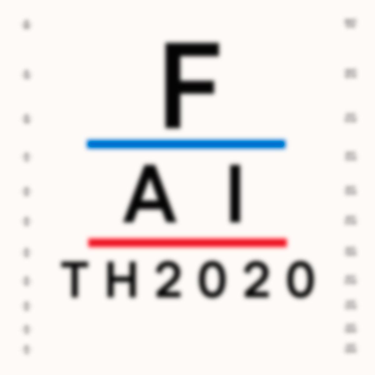 Eyechart that says Faith 2020