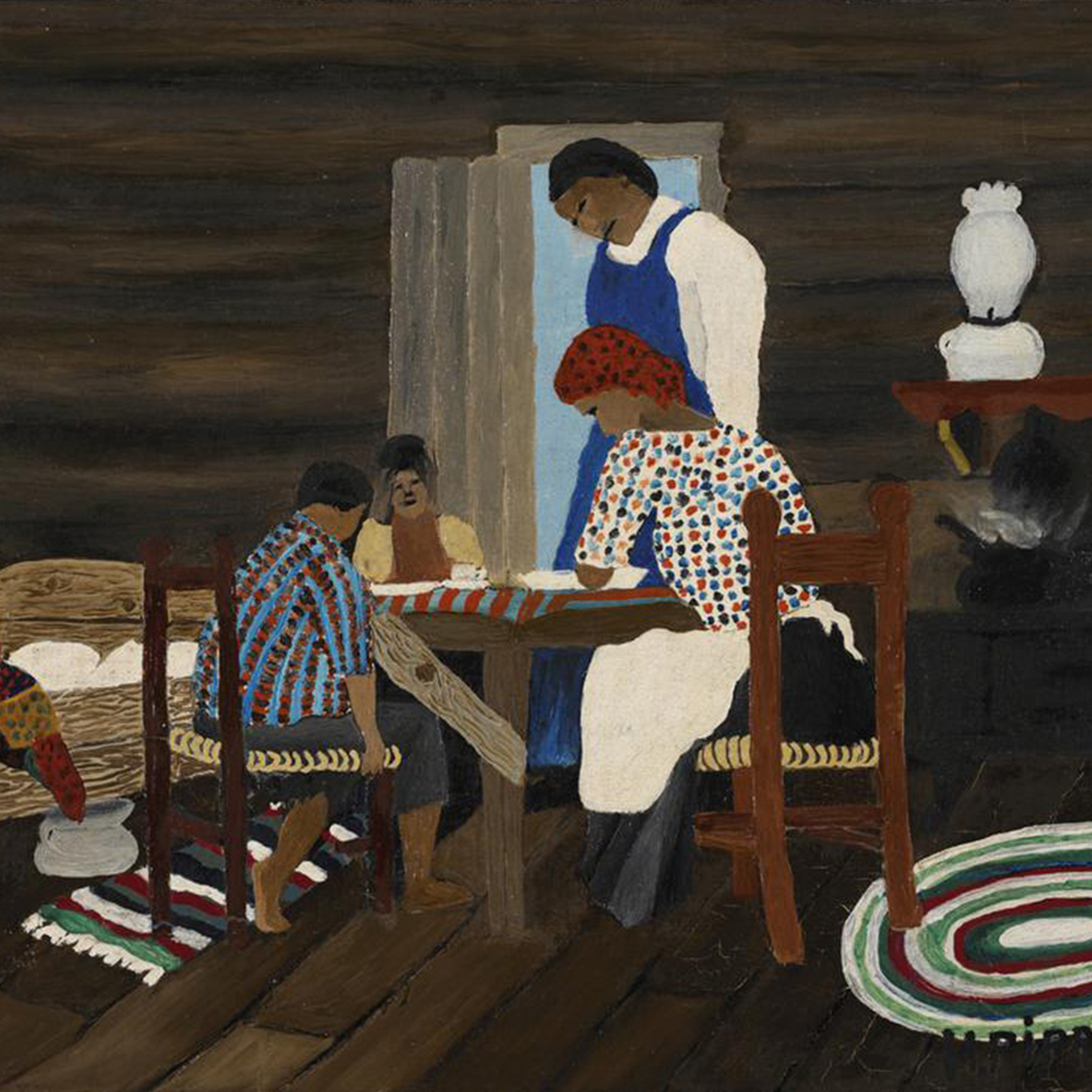 Horace Pippin. Giving Thanks, 1942.