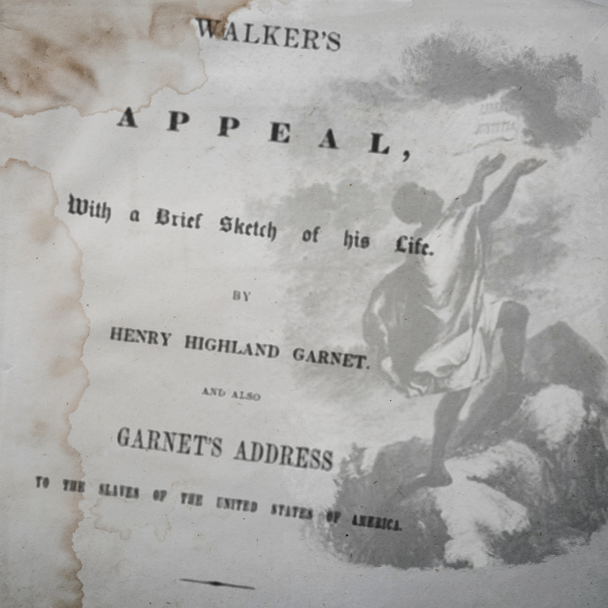 David Walker's Appeal opening page and image