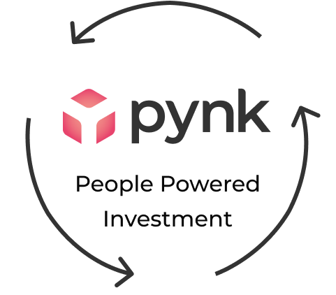 Pynk people powered investment logo