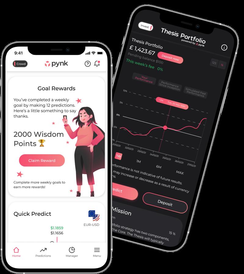 Pynk crowdfunding app image