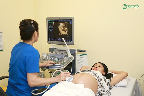 Siêu âm thai tại Thu Cúc có thể đo chính xác độ mờ da gáy
