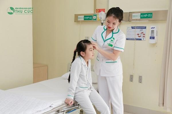 chăm sóc sau phẫu thuật cắt amidan cho trẻ tại thu cúc