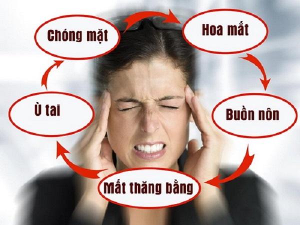 Các biểu hiện của hội chứng rối loạn tiền đình thường gặp
