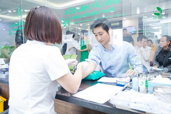 Xét nghiệm nhóm máu tại Hệ thống Y tế Thu Cúc