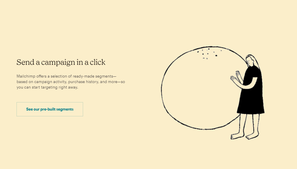 SaaS click-through landing page example
