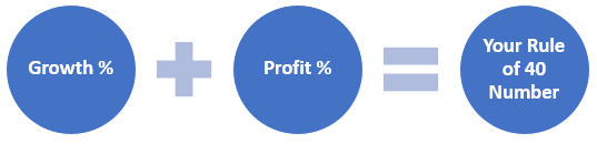 Growth % + Profit % = Your Rule of 40 Number