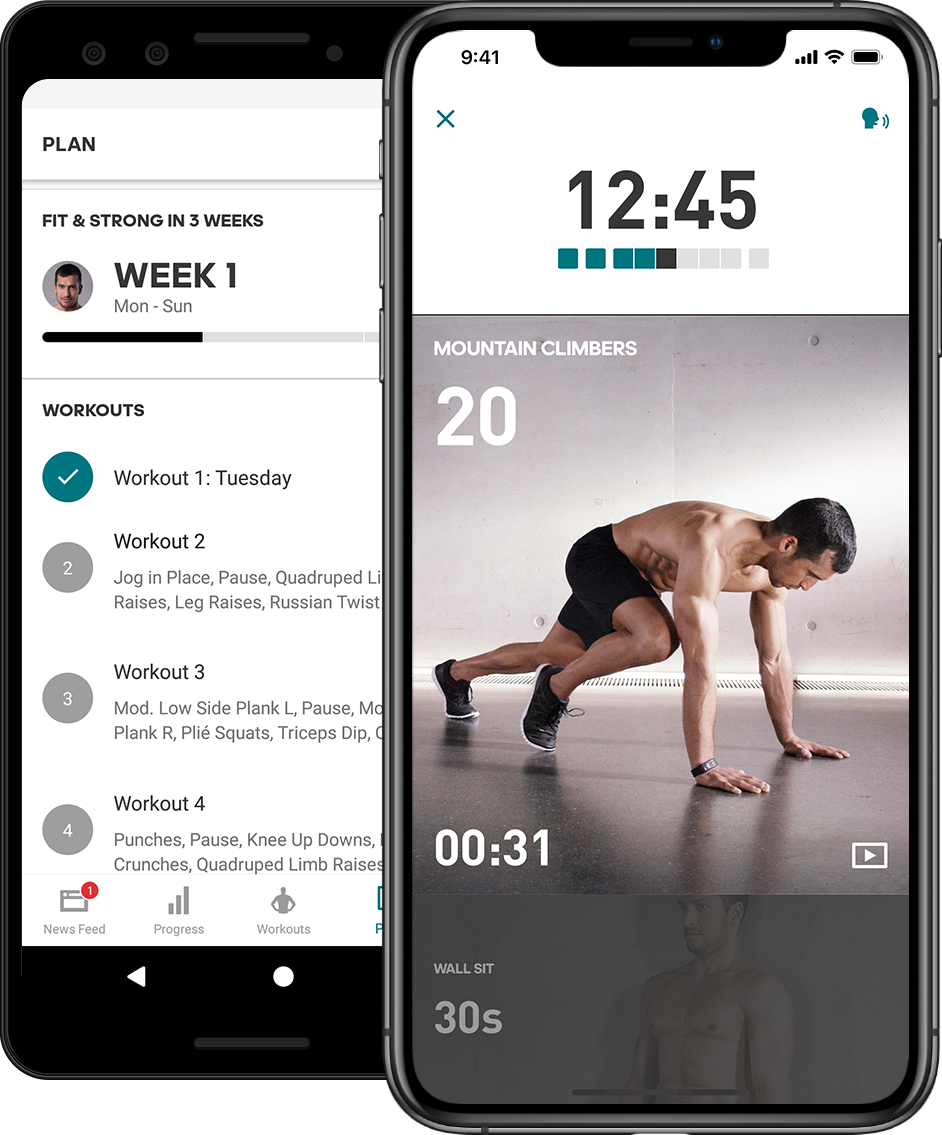Application interface design examples: Adidas