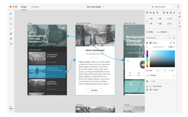 Adobe XD Design Examples: Artboards