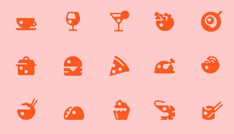 Adobe XD Design Examples, icons