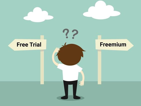 saas business models, freemium, free trial