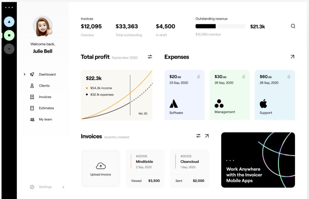 minimalist dashboard design