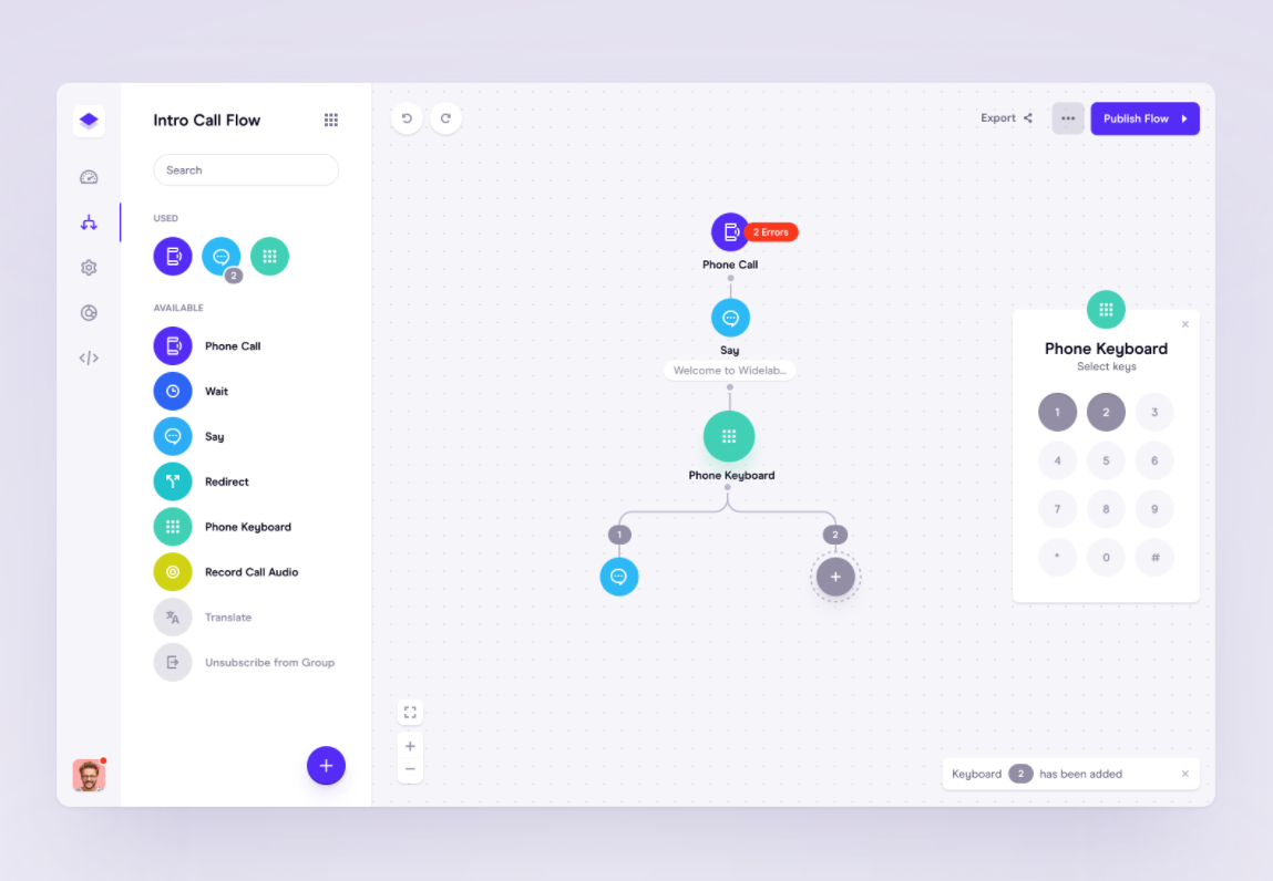 minimalistic dashboard design with drag and drop function
