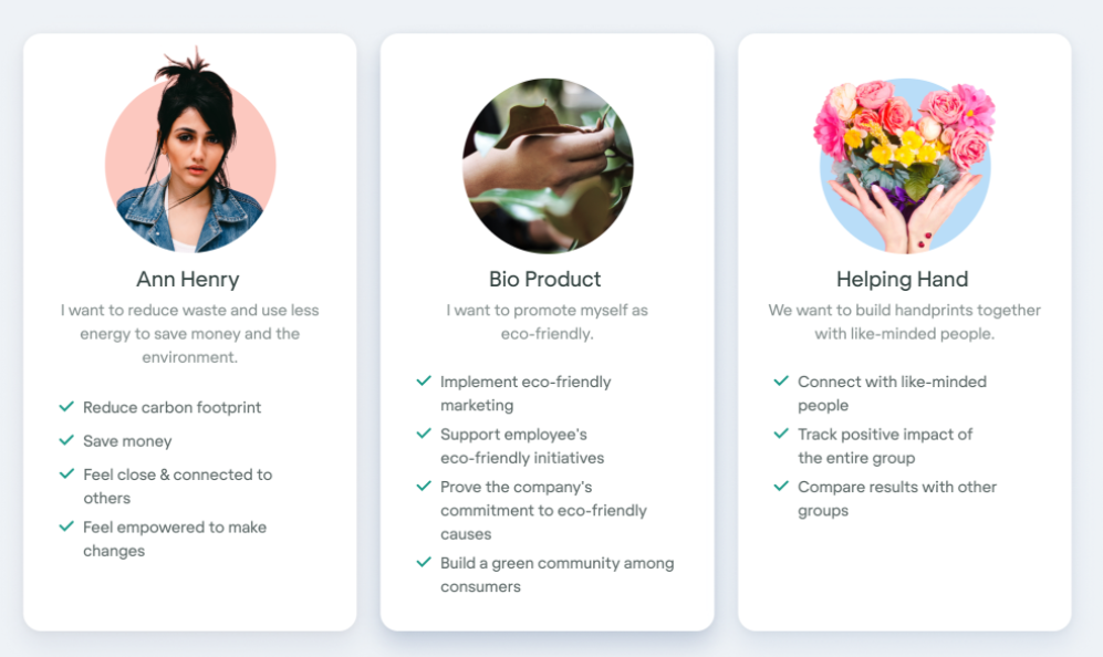 Creating user personas for SaaS startup