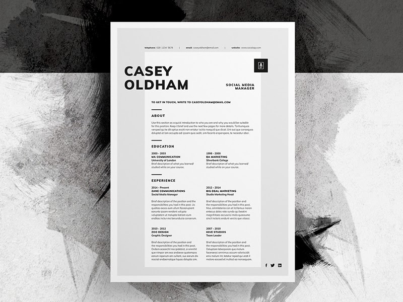 cool example of design resume